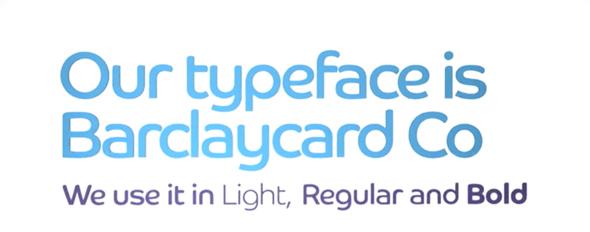 Tipografia BarclayCard