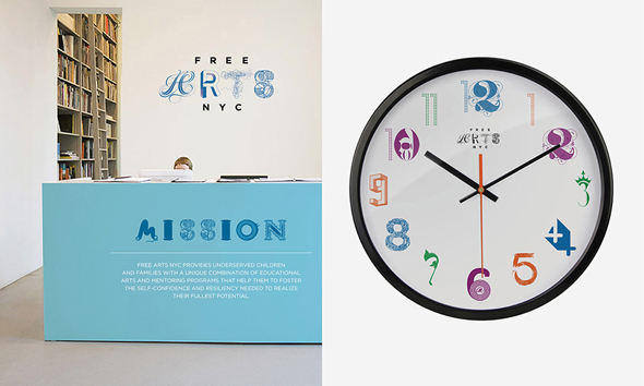 free_arts_nyc_cards_lobby_clock